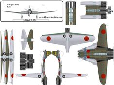 4D model template of Nakajima B5N2 Kate #4dpa, #NakajimaB5N2Kate.