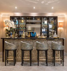Luxury House Interior Design Tips And Inspiration Basement Bar Designs, Home Bar Rooms, Modern Home Bar, Luxury Homes Interior, Kitchen Interior, House Interior, Luxury Mansions Interior, Home Bar Designs, Luxury House Interior Design