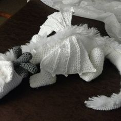 PDF Pattern: Winter Dragon **Crochet pattern only, not actual doll! Crochet Dragon Pattern, Crochet Animal Patterns, Stuffed Animal Patterns, Crochet Ideas, Crochet Toys, Crochet Baby, Free Crochet, Marker, Made By Mary