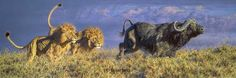 Original African Wildlife ArtBrian Jarvi 61  ... this is one of the most alive wildlife paintings I've ever witnessed