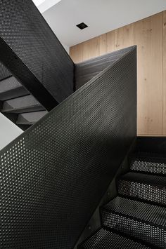 Materials used in the stairs, steel I assume. The pattern as well. My kinda style