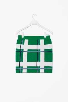 Jacquard patterned skirt