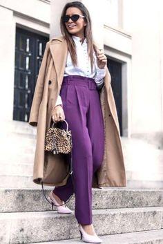 Purple pants, yes!