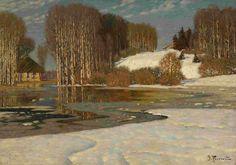 Vilhelms Purvītis (1872-1945), Lac au Début du Printemps - 1910