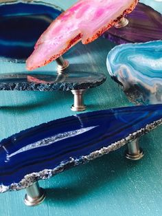 etsy.com -  Large Agate Pulls // Gemstone Handles // Agate Knobs // Double Knob