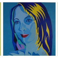Estefania Pop Art (2015) Oil on three Canvases 50 X 50 cm Each by Maite Rodriguez http://www.maiterodriguez.es