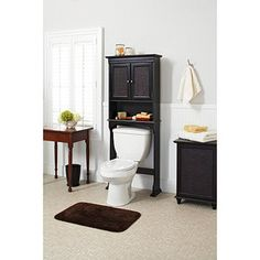 better homes and gardens classic caning over the toilet space saver espresso walmart bathroom organizationbathroom storageover - Walmart Bathroom Storage