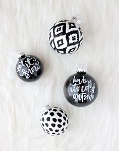 DIY Hand Painted Ornaments - for when we watch xmas movies allll dayyyy! Clear Plastic Ornaments, Glitter Ornaments, Hand Painted Ornaments, Diy Christmas Ornaments, Holiday Crafts, Christmas Decorations, Handmade Ornaments, Ball Ornaments, Noel Christmas