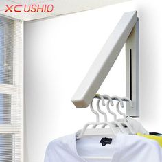 Stainless Steel #WallHanger Retractable Indoor Clothes