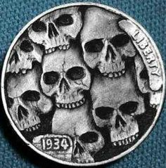 Skulls hobo nickel