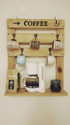 Interior landscaping by Atölye Çatı Coffee Bar Home, Coffee Corner, Wooden Kitchen, Kitchen Decor, Deco Studio, Diy Home Decor, Room Decor, Diy Casa, Diy Pallet Projects