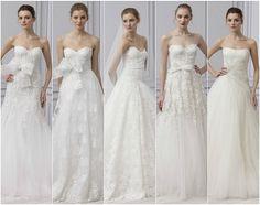 O sonho em forma de vestidos de noiva: colecção Monique Lhuillier 2013 - Clique para ler o post