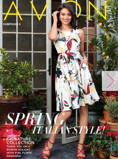 Avon Campaign 8 now available to order online! The Italian inspired look on the front cover so Spring! To order your own Italian inspired look, go to: www.youravon.com/swalle