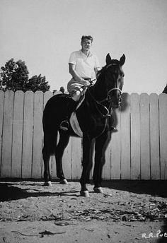 Ronald Reagan at his ranch in Northridge California