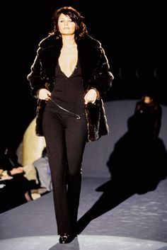 Helena Christensen for Gucci Fall 1995 Ready-to-Wear Fashion Show - Amber Valletta