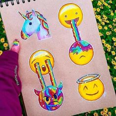 Inspiring image art, emoji by Bobbym - Resolution - Find the image to your taste Amazing Drawings, Beautiful Drawings, Cute Drawings, Amazing Artwork, Emoji Love, Cute Emoji, Smileys, Emoji Drawings, Social Media Art