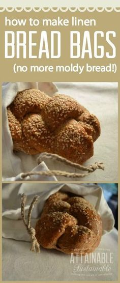 Did you know that storing bread in a linen bag can make it last longer? Here's how to make one in 15 minutes! Bonus: You'll eliminate some plastic bags from the landfill. I'm thinking these would make great gifts, too, if you accompany a set with a fresh loaf of bread.