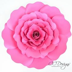 How to make giant paper roses. Full tutorial and rose template patterns