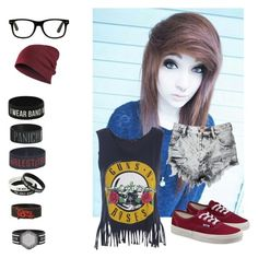 """""""Selena's Outfit"""" by carolynhopkins on Polyvore featuring Glamorous and Vans"""