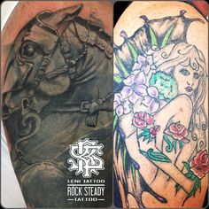 before and after, cover up tattoo