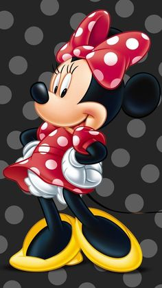 Sweet Minnie Mouse in Red with White Polka dots Disney Mickey Mouse, Mickey Mouse E Amigos, Retro Disney, Red Minnie Mouse, Mickey Mouse And Friends, Cute Disney, Disney Art, Minnie Png, Mickey Mouse Background
