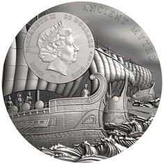 World Exclusive: Superb new Trojan Horse silver coin debuts from the Mint of Poland - AgAuNEWS Wood Insert, Trojan Horse, Ancient Myths, Coin Design, Coin Art, Gold And Silver Coins, Silver Bullion, Commemorative Coins, World Coins