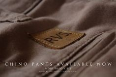 Chino Pants Available Now! Check at www.revisepeace.tumbrl.com