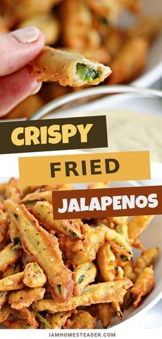 FRIED JALAPENOS Crispy fried jalapenos are the perfect party appetizer! Deep fried jalapenos in a beer batter and dipped in any number of savory sauces. The best fried jalapenos are sure to be a crowd pleaser! Appetizers For Party, Appetizer Recipes, Recipes Dinner, Meat Appetizers, Breakfast Recipes, Dessert Recipes, Desserts, Fried Jalapenos, Recipes