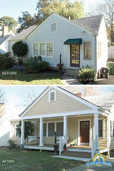 You can't have a porch swing if you don't have a porch, right? Look at the character this new front porch adds to this sweet bungalow! | Atlanta Home Exterior Remodeling | EXOVATIONS
