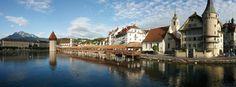 Wander back into time on the Kapellbrücke - Luzern, Switzerland
