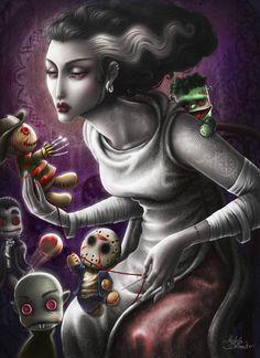 The bride dollmaker... by *Medusa-Dollmaker on deviantART