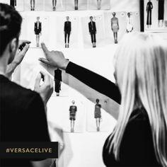 'Definitely this one on her' – DV. Photo by Rahi Rezvani. #RahiRezvaniStudio #VersaceLive #VersaceWomenswear