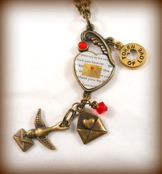 Love Letter Necklace. This is so cute! Long necklaces are my favorite!!!