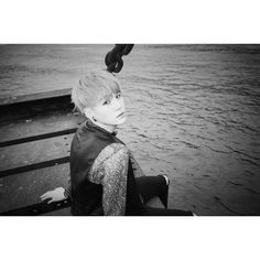 BTS Opts for Moody Black and White for Latest Concept Photos for... ❤ liked on Polyvore featuring bts, kpop, yoongi and k-pop