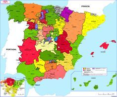 Administrative division (intendencias) of Spain, [[MORE]]Intendencias - Intendants were introduced into the Spanish Empire during the eighteenth-century Bourbon Reforms. Spain History, Map Of Spain, Bible Mapping, Geography Map, Iberian Peninsula, Spanish Art, Flags Of The World, Book Projects, Historical Maps