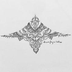 under boob sternum tattoo designs Sternum Tattoo Design, Mandala Sternum Tattoo, Tattoo Designs, Lace Tattoo, Tattoo Ideas, Body Art Tattoos, Sleeve Tattoos, Autumn Tattoo, Mandalas Painting