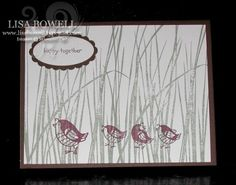 This card is made by using two retired Stampin' Up! stamp sets.  Inspired by Nature and Happy Together.  It would make a simple masculine card.  Shared by Lisa Bowell-Stampin' Up! Demonstrator @ lisastamps.com