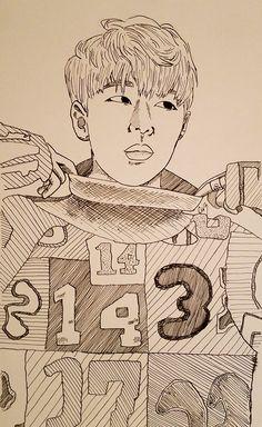 Trying out new styles made a quick Zico #fan #fanart fan #fanart #kpop #kpopfanart #kpopfan #anime #animefan #animefanart #illustration #drawing #pencil #pen #art #artwork #design #portrait #blackandgray #korea #korean  #blockb #zico #zicoblockb #bbc