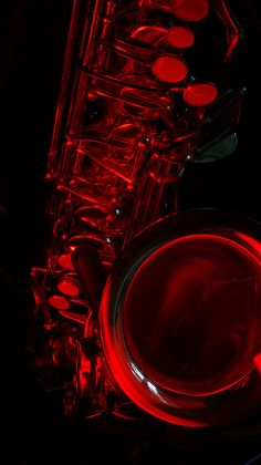 Red Saxphone. #blackandred #saxaphone http://www.pinterest.com/TheHitman14/black-and-red/