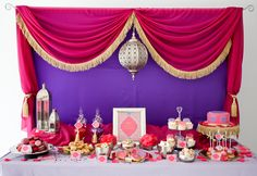 Stunning Moroccan birthday party dessert table
