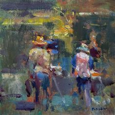 Jim McVicker · 8x8 'John and Lynn Painting the Lake' Figure Painting, Workshop, Painters, Instagram, Art, Art Background, Atelier, Work Shop Garage, Kunst