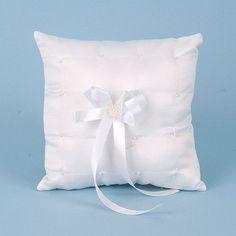 Ring Bearer Pillow White - 7 Inch