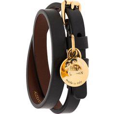 Alexander McQueen double wrap skull bracelet (6,150 THB) ❤ liked on Polyvore featuring men's fashion, men's jewelry, men's bracelets, black and mens skull bracelets