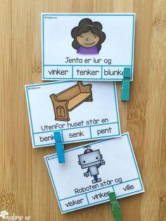 Klypekort for å øve på språklyder, nærmere bestemt NK-lyd og NG-lyd Special Education, Preschool, Language, Study, Montessori, Barn, First Grade, Studio, Converted Barn