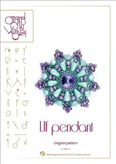 Jewelry pattern pendant tutorial / pattern Ulf pendant ..PDF instruction for personal use only