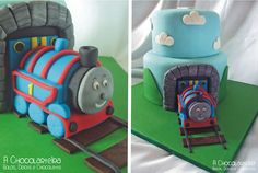 Thomas, the Tank Engine cake by A CHOCOLARTEIRA
