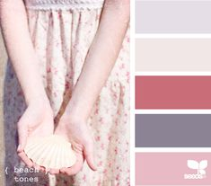 beachy, girly, and fun, but still subtle. i like this palette for a guest room, or even the girls' room.