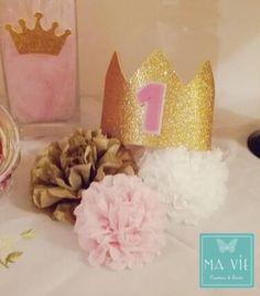 Il primo compleanno di una principessa - Princess birthday party (by Ma Vie Creations & Events) #princess #birthdayparty #girlparty #pinkwhitegold #polkadots