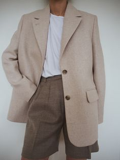 Wool Blend Oversized Blazer - Camel - Blazers - & Other Stories Looks Style, My Style, Clothing Blogs, Oversized Blazer, Blazer Outfits, Work Outfits, Casual Outfits, Minimal Fashion, Fashion Edgy
