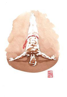 Encres : Capoeira – 439 [ #capoeira #watercolor #illustration]